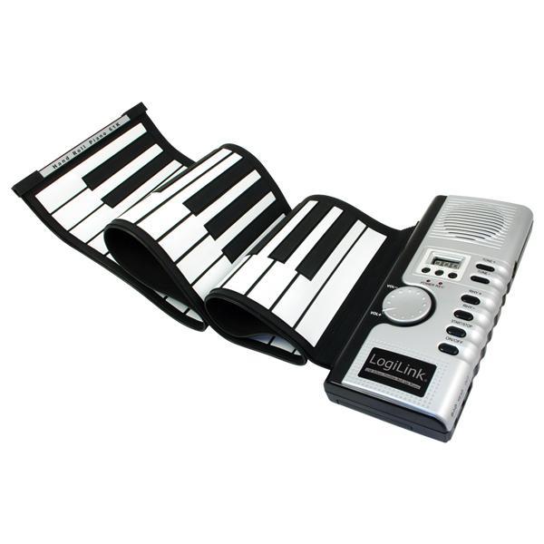 LogiLink® Aufrollbares Silikon USB Midi Keyboard [UA0104]