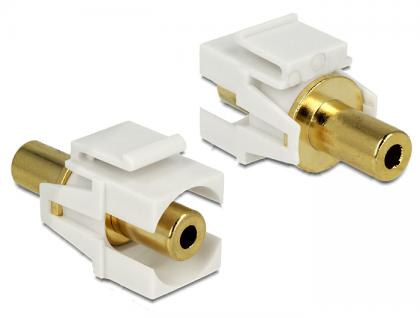 Keystone Modul Klinke 3, 5 mm Buchse an Klinke 3, 5 mm Buchse vergoldet, Delock® [86336]