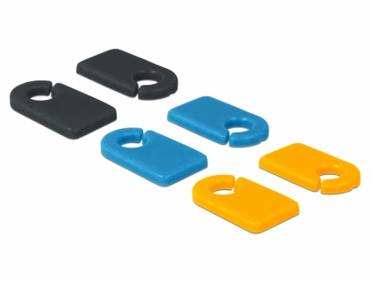 Kabelmarker Clip Set zum Selbstbeschriften, 6 Stück, Delock® [18293]