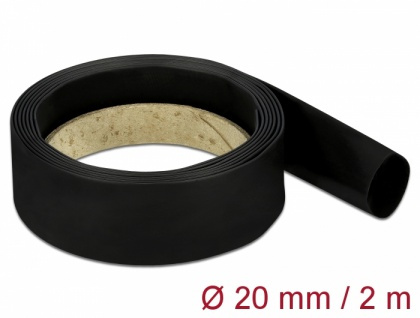 Schrumpfschlauch 2 m x 20 mm schwarz, Delock® [18985]