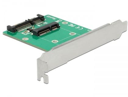 Konverter SATA 22 Pin an mSATA mit Slotblech + 3, 5' Rahmen, Delock® [62743]