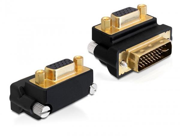 Adapter VGA Buchse an DVI 24+5 Pin Stecker 270____deg; gewinkelt, Delock® [65261]