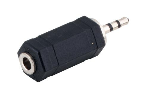 kabelmeister® Audio Adapter 2, 5mm Stereo Stecker / 3, 5mm Stereo Buchse