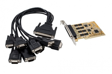 8S Seriell RS-232 PCI Karte mit Octopus Kabel (FTDI Chip-Set), Exsys® [EX-41088]