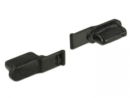 Staubschutz für Lightning Buchse 10 Stück, schwarz, Delock® [64033]