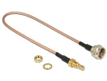 Antennenkabel F Stecker an SMB Buchse zum Einbau, RG-316, braun transparent, 0, 25 cm, Delock® [13025]