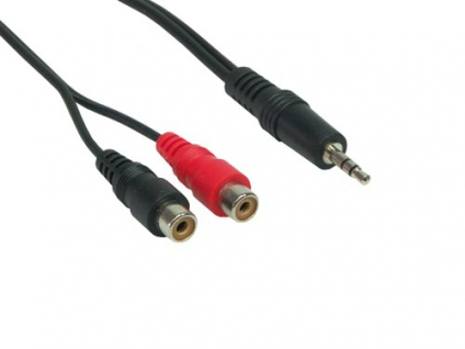 Audio Adapterkabel 3, 5mm Klinke Stecker / 2 x Cinch Buchse, 0, 2m, Good Connections®