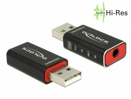 Adapter USB 2.0 Sound High-Res Audio 24 bit / 96 kHz, Delock® [65899]