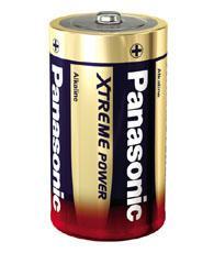 Panasonic® XTREME POWER Batterie Alkali Mono (D), 2er Folie