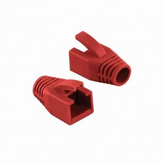 Knickschutztülle 8, 0 mm für Cat.6 RJ45 Steckverbinder, rot, LogiLink® [MP0035R]