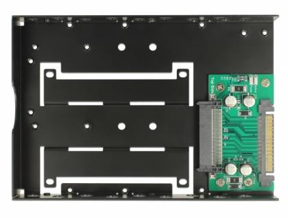 Konverter U.2 SFF-8639 zu U.2 SFF-8639 mit 3.5? Rahmen, Delock® [63956]