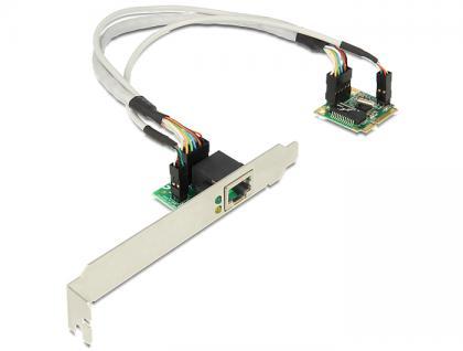 MiniPCIe I/O PCIe half size 1 x Gigabit Lan, Delock® [95239]