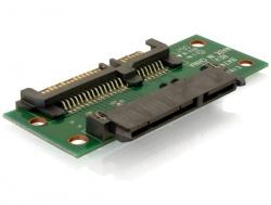 Adapter, Verlängerung SATA 22pin Stecker an Buchse, Delock® [65092]
