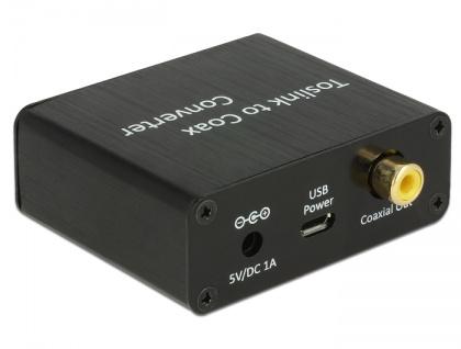 Konverter Digital Audio TOSLINK an Koaxial, Delock® [62789]