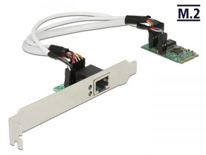 Konverter M.2 Key B+M Stecker an 1x Gigabit LAN - Low Profile Formfaktor , Delock® [62851]