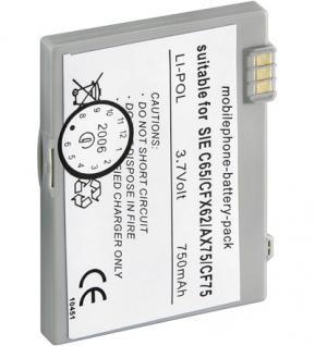 Mobilfunkakku, ersetzt Siemens EBA-670, EBA-760, EBA-770 (nicht Original), 3, 7 Volt / 750mAh / LiPol