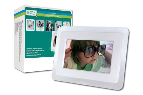 Digitus® Digitaler Bilderrahmen, 7-inch LCD Bildschirm
