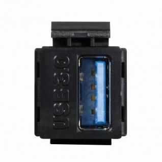 Keystone Modular Verbinder USB-A 3.0 Buchse an USB-A 3.0 Buchse, LogiLink® [NK0015B]