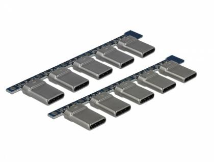 Steckverbinder USB 2.0 Typ-C Stecker, 10 Stück, Delock® [65966]