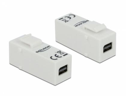 Keystone Modul mini DisplayPort Buchse an mini DisplayPort Buchse, Delock® [86387]
