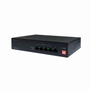 Power over Ethernet (PoE) Switch, 10/100 MBit/s, 5-Port, LogiLink® [NS0098]