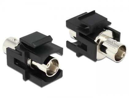 Keystone Modul BNC Buchse an BNC Buchse schwarz, Delock® [86351]