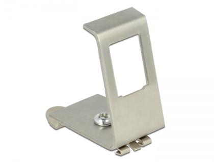 Keystone Metall Halterung 1-Port für Hutschienen , Delock® [86259]