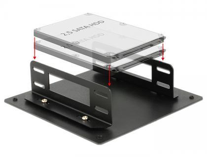 Einbaurahmen für 2x 2.5' HDD, Delock® [18213]