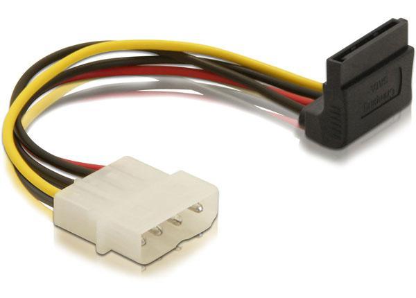 Kabel Power SATA HDD > 4pin Stecker - gewinkelt, Delock® [60104]