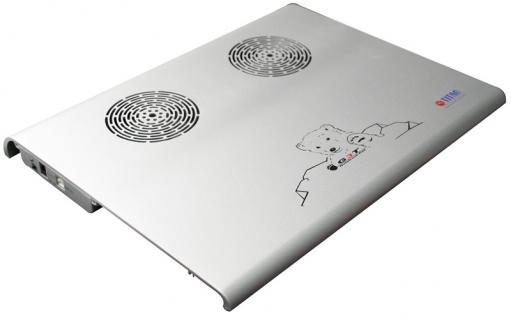 Titan® Aluminium Notebook Kühler Pad TTC-G3TZ/SB, silber