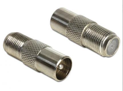 Adapter F Kupplung an KOAX-Stecker, Delock® [65610] - Vorschau