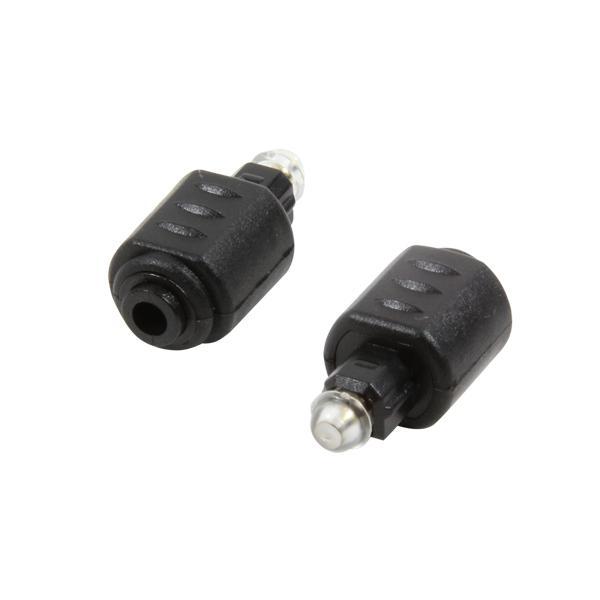 Adapter Toslink Stecker an mini Buchse, schwarz, LogiLink® [ CA1016]