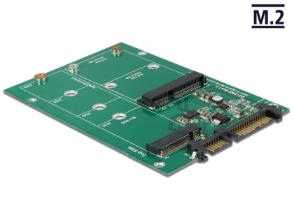 Konverter SATA 22 Pin an 1x M.2 + 1x mSATA, Delock® [62670]