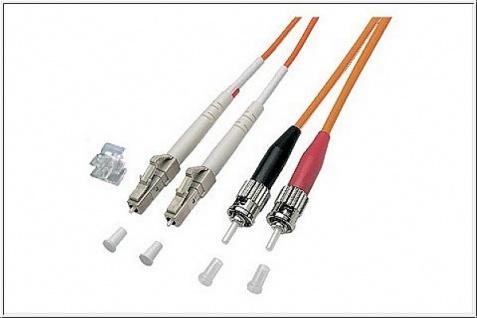 kabelmeister® Patchkabel LWL Duplex OM1 (Multimode, 62, 5/125) LC/ST, 3m