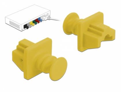 Staubschutz für RJ45 Buchse 10 Stück gelb, Delock® [86511]