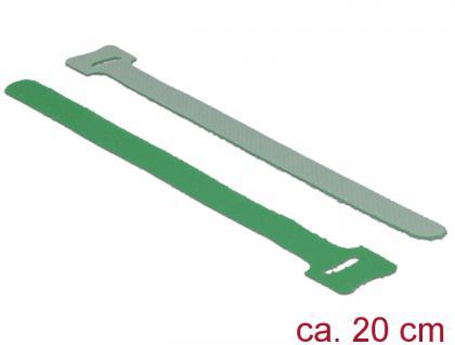 Klett-Kabelbinder L 200mm x B 12mm, 10 Stück, grün, Delock® [18693]