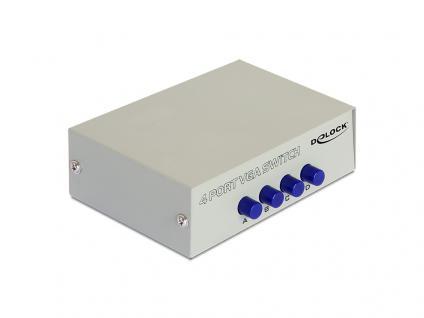 VGA Umschalter 4-fach, manuell bidirektional, beige, Delock® [87635]