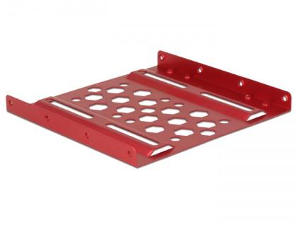 Aluminium Einbaurahmen 2.5' zu 3.5', rot, Delock® [21290]