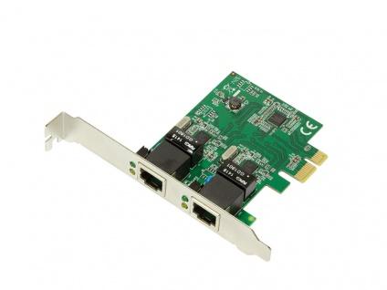PCI Express Karte, Gigabit Lan, 2-Port, LogiLink® [PC0075] - Vorschau