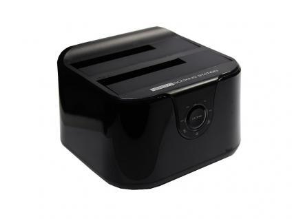 Dockingstation Dual SATA HDD USB 3.0, 2, 5'/3, 5', Easy Plug and play, schwarz
