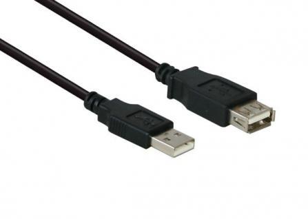 Verlängerung USB 2.0 Stecker A an Buchse A, schwarz, 15cm, Delock [82457]