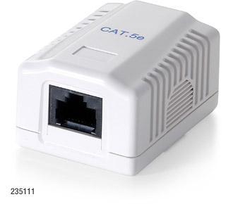 Equip® Datendose UTP Cat.5e , Aufputz, 1 Port