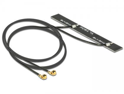 Antenne Doppel WLAN MHF/U.FL-LP-068 kompatibler Stecker 802.11 ac/a/h/b/g/n 5 dBi 2x500 mm PCB intern, Delock® [89457]