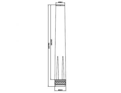 Antenne LTE N-Stecker 0, 5 ~ 2, 5 dBi omni, starr, outdoor, weiß, Delock® [88980]