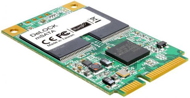 Flash Modul MiniPCIe Speicher mSATA 6 Gb/s WT, 16GB, -40____deg; C ~ +85____deg; C, Delock® [54706]