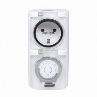 Mechanische Zeitschaltuhr, 2er Set, IP44, Outdoor, LogiLink® [ET0006A]