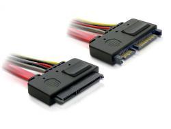 Verlängerungskabel, SATA 22-Pin Stecker an Buchse, 0, 5m, Delock® [84361]