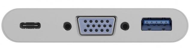 USB-C™ Multiport Adapter, 5 Gbit/s, USB-C™ Stecker an VGA Buchse (1080P / 60 Hz), 1x USB C™ Buchse (PD 60W), 1x USB 3.0 A Buchse