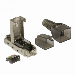 Feldkonfektionierbarer RJ45 Steckverbinder Cat.6A 10GE, geschirmt, EconLine, LogiLink® [MP0044]