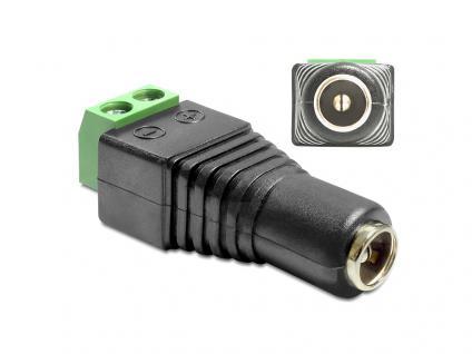 Adapter DC 2, 1 x 5, 5 mm Buchse an Terminalblock 2 Pin, Delock® [65421]